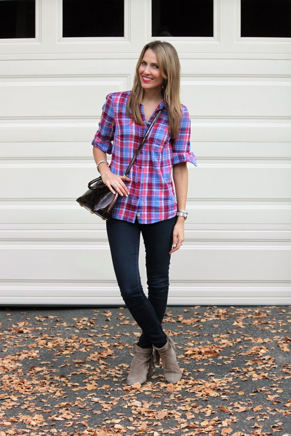 Personal Stylist Tips How to Style Ankle Boots: Summer-to-Fall checkered button up