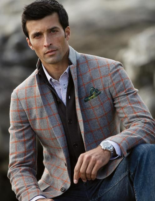 how to wear a sport coat, Plaid Sport Coat with vest