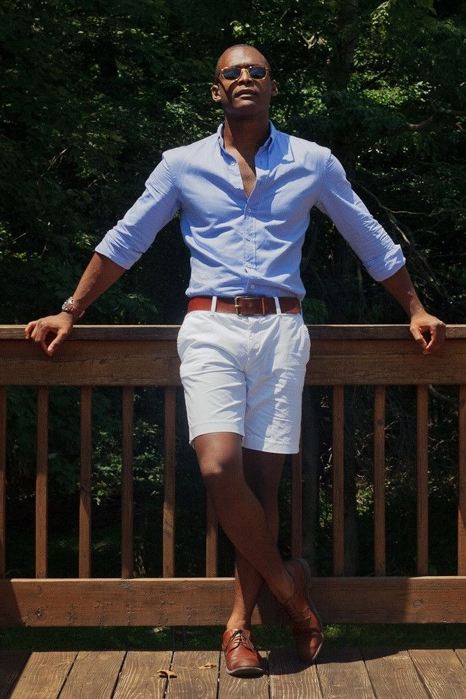 Stylist Tips For Men  How To Wear White Shorts