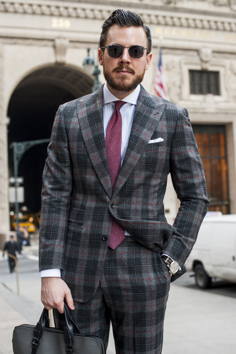 How to Style Your Guy Creative Black Tie Plaid Suit