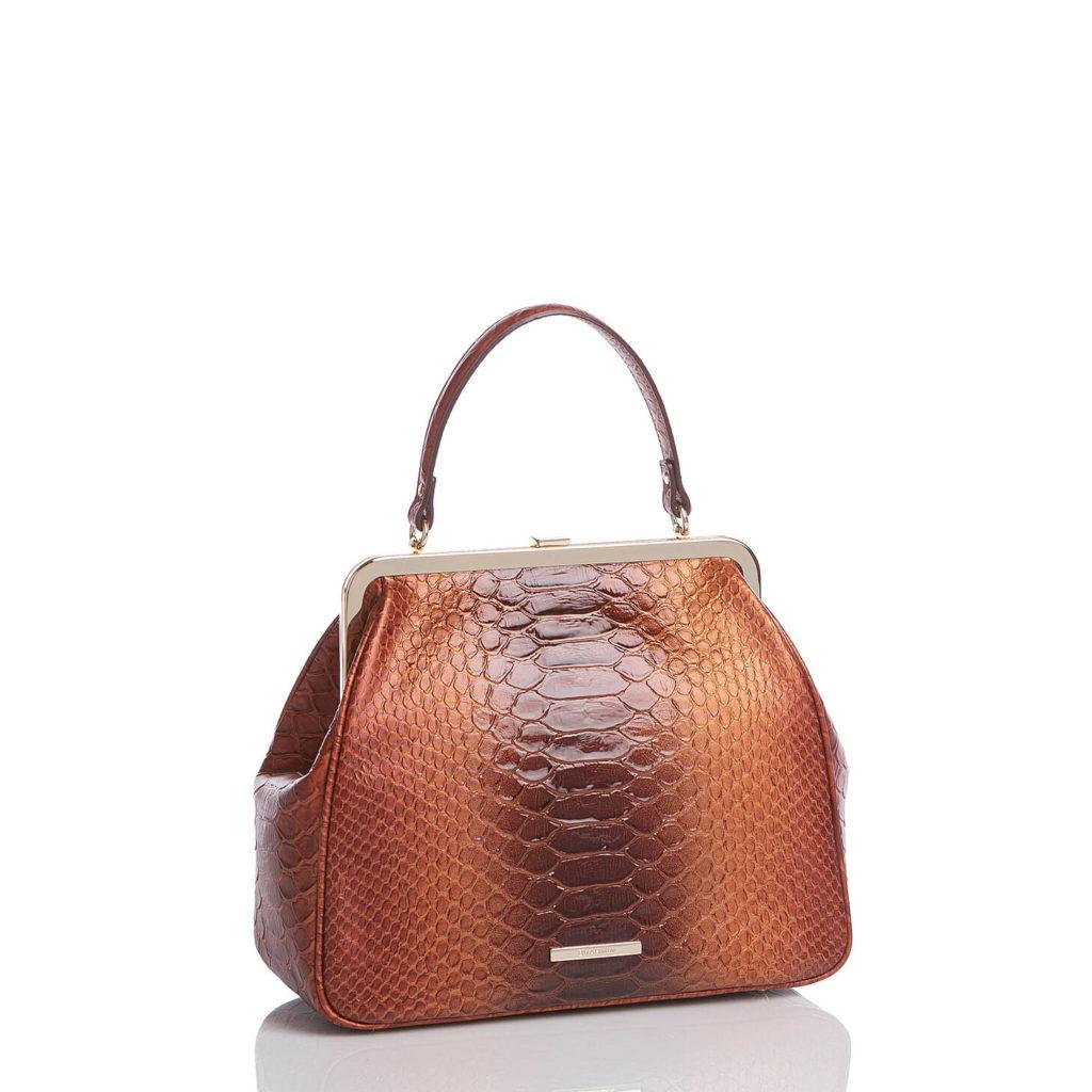 Brahmin Lakewood Collection Emmy Satchel Bag The Frame Bag